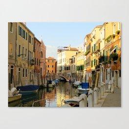 Venetian Canals Canvas Print