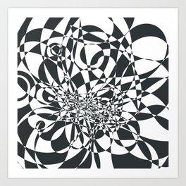 Doodle burst Art Print