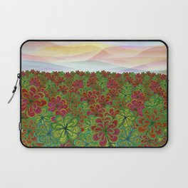Whimsical dahlia flower field Laptop Sleeve