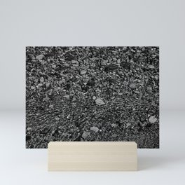 shale shock, black and white Mini Art Print