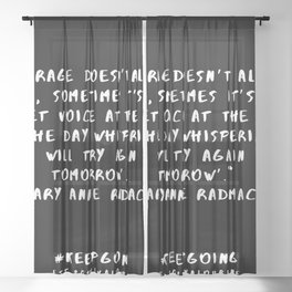 5  | Keep Going Quotes 190512 Sheer Curtain