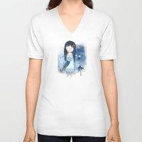 medusa V-neck T-shirts featuring Medusa by Kristina Sabaite