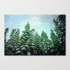Snowy Chevron Canvas Print