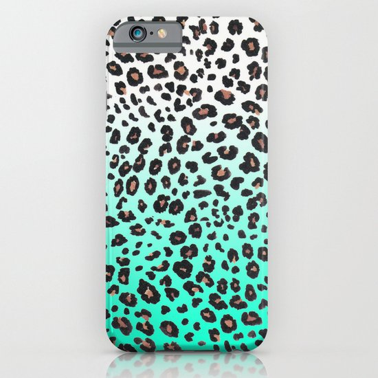 TEAL LEOPARD iPhone & iPod Case
