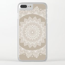 Baja Dunes Mandala Lace Classic Elegant Bohemian Décor Clear iPhone Case