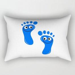 Blue Happy Feet Rectangular Pillow