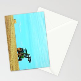 Tractor and Hay Roll on the Ridge Stationery Cards