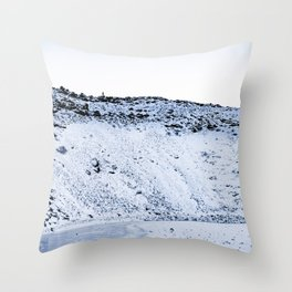 Kerid Crater In Winter, Iceland Throw Pillow