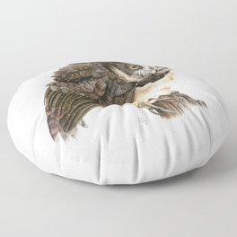 Spectacled Owl Floor Pillow