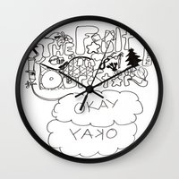 fault in our stars Wall Clocks featuring The fault in our stars by Madwolf