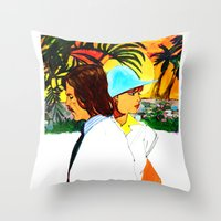 hollywood Throw Pillows featuring Hollywood by Ecsentrik