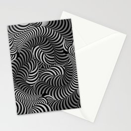 Black and White Illusion Pattern Stationery Cards
