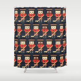 Super cute sports stars - Ice Hockey Red, Yellow and Black Shower Curtain
