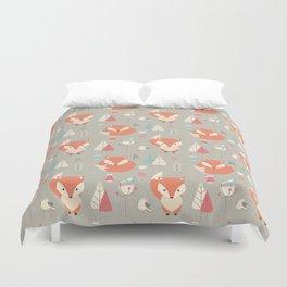 Baby fox pattern 01 Duvet Cover