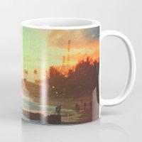 paradise Mugs featuring Paradise by Daniel Montero