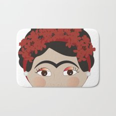 FRIDA KAHLO RED Bath Mat