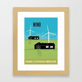 Renewable Electrification Administration - Wind Framed Art Print
