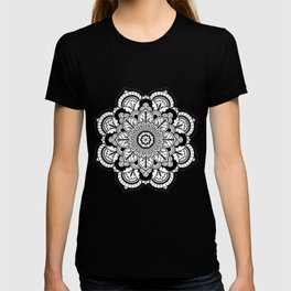 Black and White Flower T-shirt