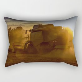 Combine harvesters in use Rectangular Pillow