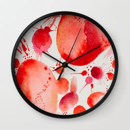 Pink Study Wall Clock