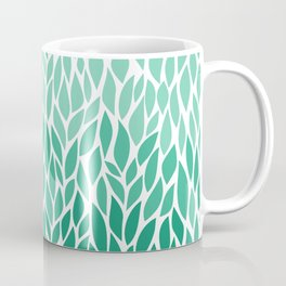 Ombre Leaf Design Coffee Mug