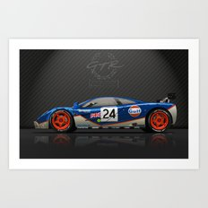 1995 Le Mans McLaren F1 GTR #02R Art Print