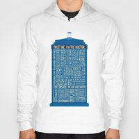 doctor Hoodies featuring Doctor Who  by Luke Eckstein