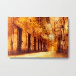 Infernal Prison Corridor Metal Print