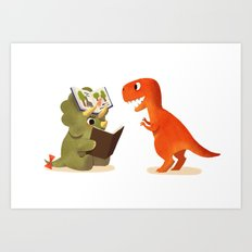 BOOK DINOSAURS 04 Art Print