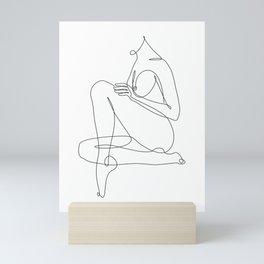 Nude Single Line Art Mini Art Print
