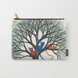 Iowa Whimsical Cats in Tree Carry-All Pouch