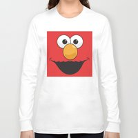 elmo Long Sleeve T-shirts featuring Sesame Street Elmo by Jconner
