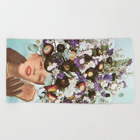 Floral Fashions III Beach Towel