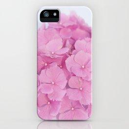 Light-Pink Hydrangeas #1 #decor #art #society6 iPhone Case