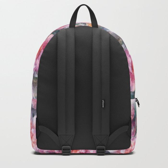 Pink floral pattern Backpack