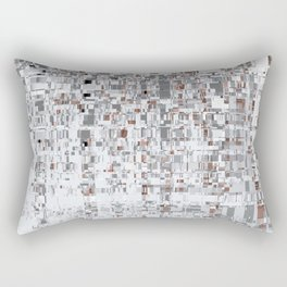 Abstract Architecture Grey Rectangular Pillow