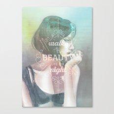 Walks in Beauty Canvas Print