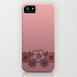 Kitschy Flower Medley Pink iPhone Case
