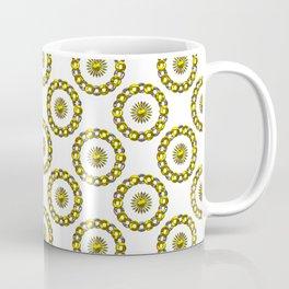 Gold and Silver Polka Dot Mandala Rings Pattern Coffee Mug
