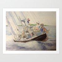 Afternoon sail on Heritage 12 US 23 Art Print