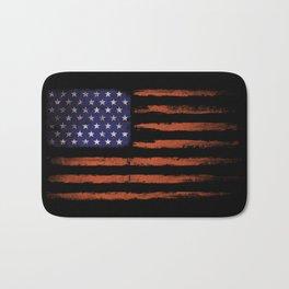 Grunge USA on black Bath Mat