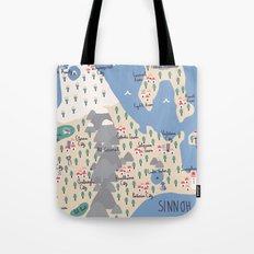 Sinnoh Map Tote Bag