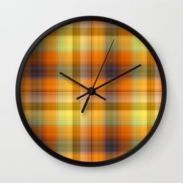 Tutti Frutti Plaid Wall Clock
