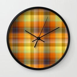 Tutti Frutti Plaid Wall Clock