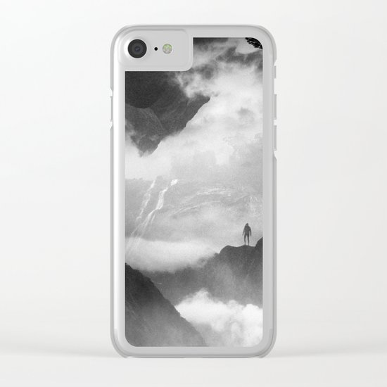 These mountains are mine of clouds Clear iPhone Case