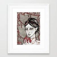 dragon ball Framed Art Prints featuring Merrill: ball of twine  by Anca Chelaru