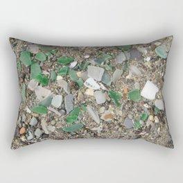 Rolling Rock sea glass Rectangular Pillow