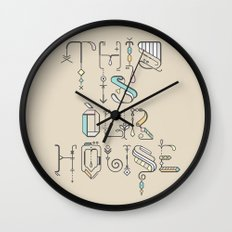 This Is Our House Wall Clock