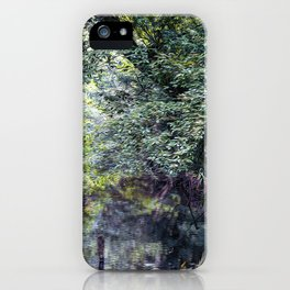 Small stream in a forest iPhone Case