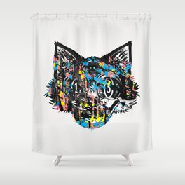 The Creative Cat (color varient) Shower Curtain